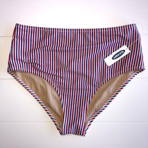 Old Navy High-Waist Textured Swim Bottoms American